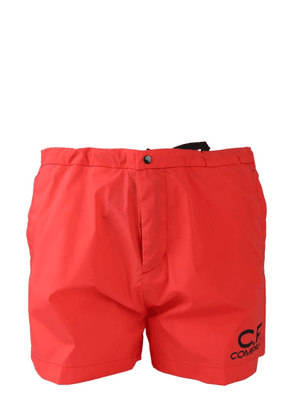 CP COMPANY MEN'S 06CMBW162A005076A547 RED POLYAMIDE TRUNKS