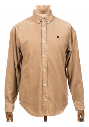 Carhartt WIP L/S Madison Cord Shirt - Wall Size: Small, Colour: Wall