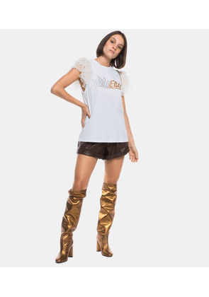 Study T-Shirt with White Logo in Silver / Gold