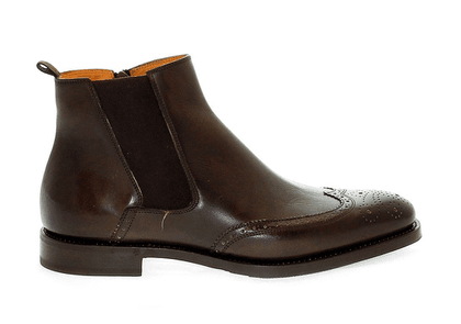 FABI MEN'S FU7065BROWN BROWN LEATHER ANKLE BOOTS