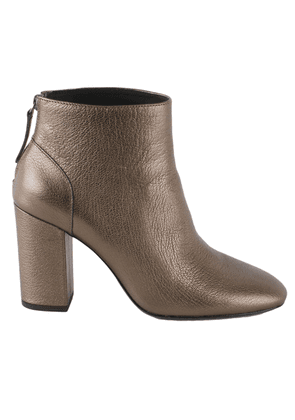 ASH WOMEN'S JOY07 BROWN LEATHER ANKLE BOOTS
