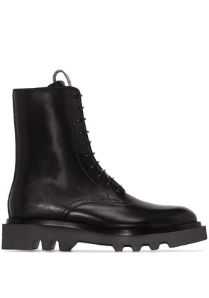 GIVENCHY MEN'S BH601JH0KF001 BLACK LEATHER ANKLE BOOTS
