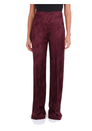 BLUMARINE WOMEN'S 2530145 BURGUNDY VISCOSE PANTS