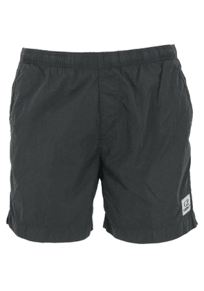 CP COMPANY MEN'S 08CMBW217A000004G999 BLACK POLYESTER TRUNKS