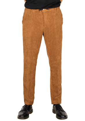 DANIELE ALESSANDRINI MEN'S P3587S2208390624 BROWN COTTON PANTS