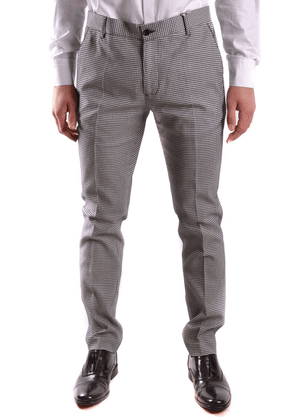 DANIELE ALESSANDRINI MEN'S P3347N772370023 GREY COTTON PANTS