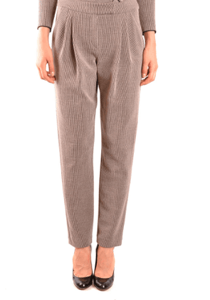 ARMANI COLLEZIONI WOMEN'S MCBI35729 BROWN COTTON PANTS