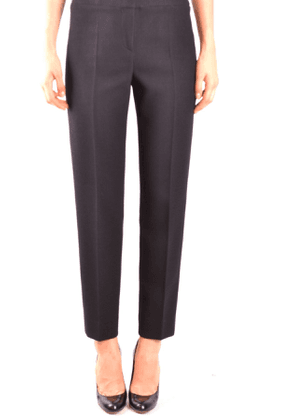 ARMANI COLLEZIONI WOMEN'S MCBI35748 BLACK WOOL PANTS
