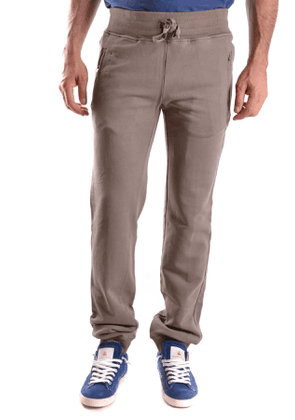 DANIELE ALESSANDRINI MEN'S MCBI26772 GREY COTTON PANTS
