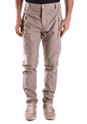 DANIELE ALESSANDRINI MEN'S MCBI27103 BEIGE COTTON PANTS