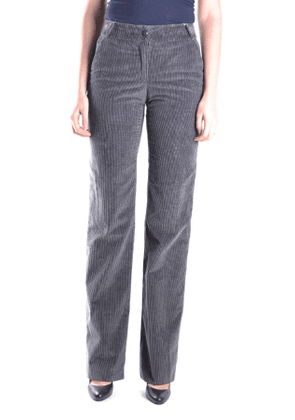 ARMANI COLLEZIONI WOMEN'S MCBI12182 GREY COTTON PANTS