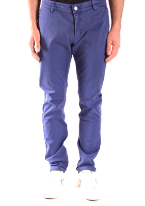 DANIELE ALESSANDRINI MEN'S MCBI39049 BLUE COTTON PANTS