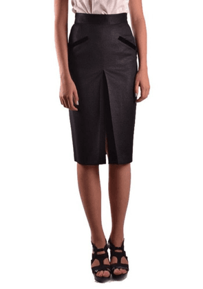 BLUMARINE WOMEN'S MCBI10593 BLACK WOOL SKIRT