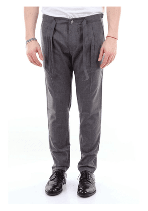ENTRE AMIS MEN'S A20ORAZIP520GRIGIO GREY WOOL PANTS