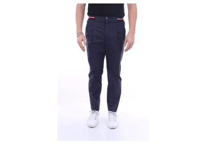 ENTRE AMIS Trousers Regular Men Navy blue