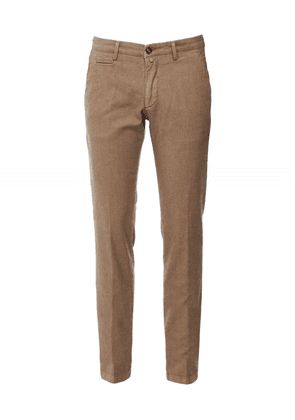 Briglia 1949 Slim Fit Textured Chinos Colour: Brown