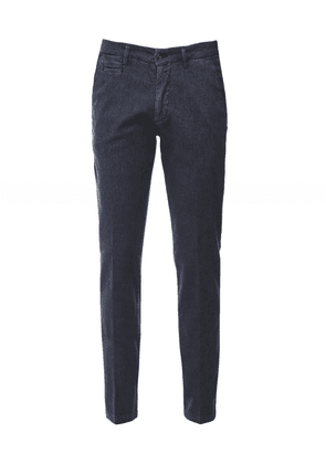 Briglia 1949 Slim Fit Textured Chinos Colour: Navy