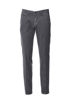 Briglia 1949 Slim Fit Textured Chinos Colour: Grey