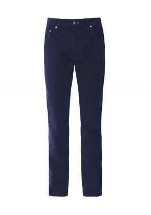 Hackett Slim Fit Moleskin Chinos Colour: Navy