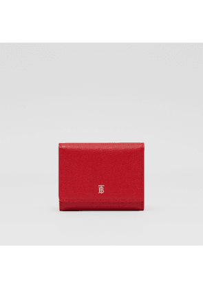 Burberry Grainy Leather ID Card Case, Red