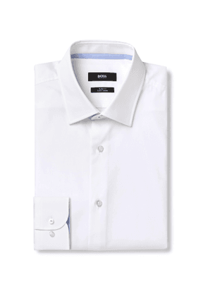 Hugo Boss - Slim-Fit Cotton-Poplin Shirt - Men - White