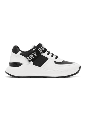 Burberry White and Black Ronnie Sneakers