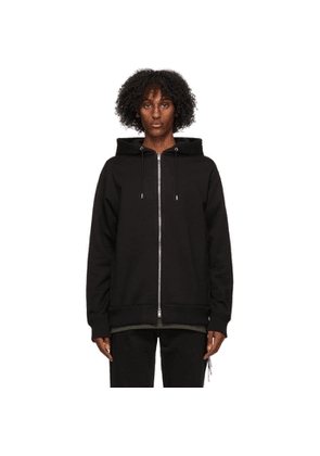 mastermind WORLD Black Monogram Foam Zip-Up Hoodie