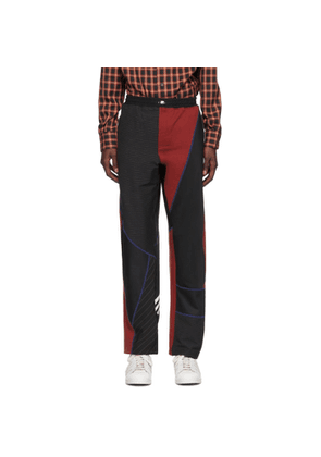 Ahluwalia Black and Red Femi Track Pants
