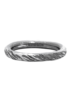 Chin Teo Silver Transmission Scarred Ring