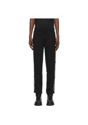 Moncler Black Logo Print Lounge Pants