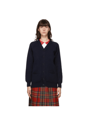 Comme des Garcons Girl Navy Lochaven of Scotland Edition Knit Cardigan
