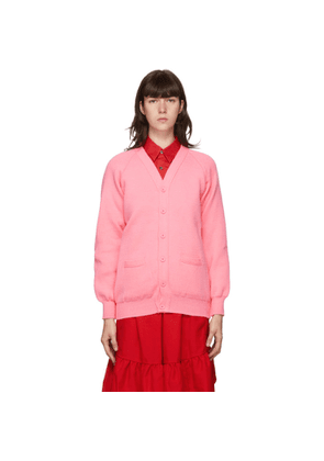 Comme des Garcons Girl Pink Lochaven of Scotland Edition Knit Cardigan
