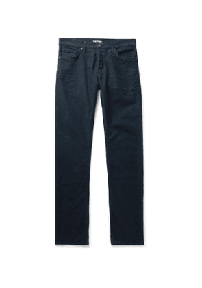 TOM FORD - Slim-Fit Cotton-Blend Moleskin Trousers - Men - Blue