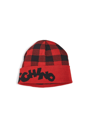 Moschino Moschino Plaid Beanie
