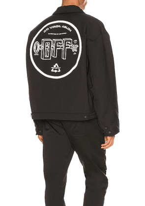 OFF-WHITE Universal Key Puff Tech Jacket in Black. Size L,S.