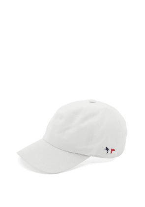 Maison Kitsuné - Tricolour-fox Cotton-blend Canvas Cap - Mens - White
