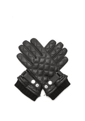 Dents - Saltford Quilted Wool-lined Leather Gloves - Mens - Black
