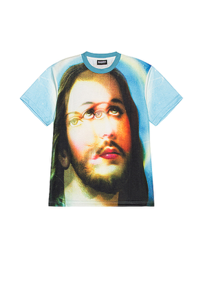 Pleasures Holy Heavyweight Shirt in Blue. Size M,XL.