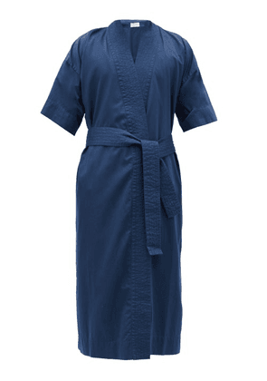 Cleverly Laundry - Superfine-cotton Sateen Robe - Mens - Navy