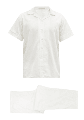Cleverly Laundry - Cotton-sateen Short-sleeved Pyjamas - Mens - White