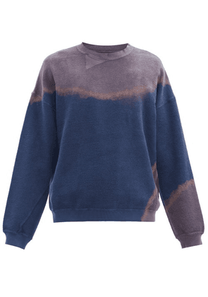 Noma T.d. - Tie-dyed Cotton-loopback Jersey Sweatshirt - Mens - Navy