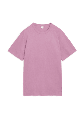 Cotton Linen T-Shirt - Pink