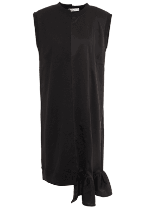 Clu Gathered French Cotton-terry And Stretch-jersey Dress Woman Black Size S