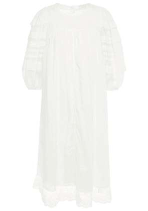 Clu Lace-trimmed Pleated Cotton-mousseline Dress Woman White Size XS