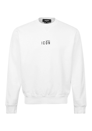 DSQUARED2 Cool Fit Icon Chest Logo Crewneck Sweat White