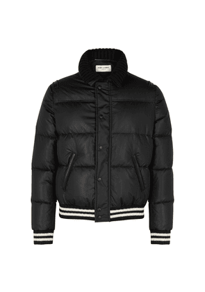 Saint Laurent Black Quilted Shell Jacket