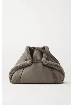 Akris - Ai Medium Convertible Reversible Shearling Tote - Taupe