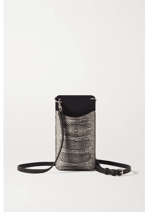 Anya Hindmarch - Smooth And Perforated Snake-effect Leather Phone Case - Snake print