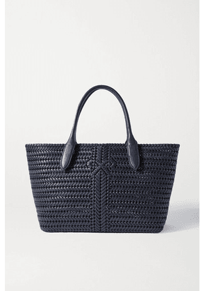 Anya Hindmarch - The Neeson Woven Leather Tote - Navy