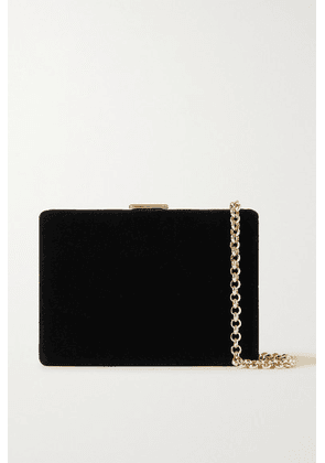 Anya Hindmarch - Velvet Shoulder Bag - Black